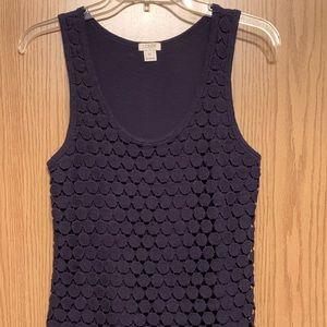 J. Crew Crochet Overlay Dot Tank Top XS